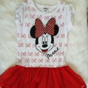 Disney Minnie Tutu Dress Sz 6 Red C1